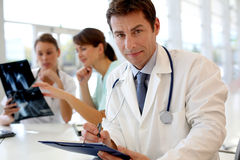 Medical people in hospital office Royalty Free Stock Photos
