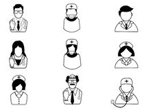 Medical people icons Royalty Free Stock Photography
