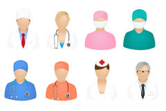 Medical People Icons. Vector Royalty Free Stock Image