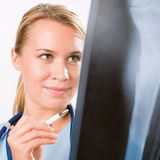 Medical person: Nurse / young doctor female Royalty Free Stock Photos