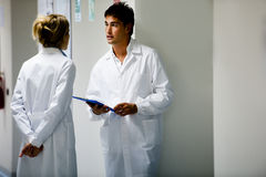 Medical Personnel Consulting royalty free stock photography
