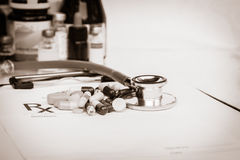 Medical  Pharmacist prescription stuff form - blank prescription Royalty Free Stock Image