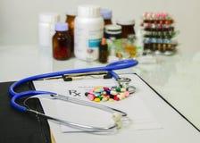 Medical Pharmacist prescription  stuff form - blank prescription Royalty Free Stock Photography