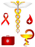 Medical and pharmacological vector sign. Medical and pharmacological icons. Caduceus Stock Photo