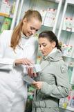 Medical pharmacy drug purchase stock image