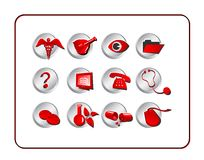 Medical & Pharmacy Icon Set Stock Photos