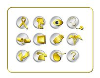 Medical & Pharmacy Icon Set Stock Image