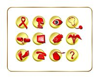 Medical & Pharmacy Icon Set - Stock Photos