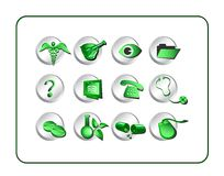 Medical & Pharmacy Icon Set - Stock Images