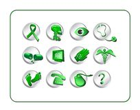 Medical & Pharmacy Icon Set - Royalty Free Stock Image