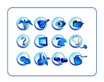 Medical & Pharmacy Icon Set, B Royalty Free Stock Image