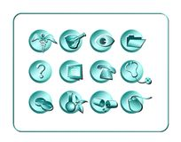 Medical & Pharmacy Icon Set - Light 1 Royalty Free Stock Image