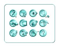 Medical & Pharmacy Icon Set - Light 2 Royalty Free Stock Photos