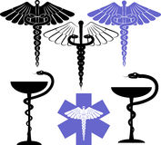 Medical and pharmacy symbol. Medical and pharmacological sign - Aesculapius Stock Photos