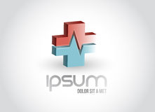 Medical pharmacy symbol illustration Royalty Free Stock Image