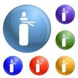 Medical pill icons set vector vector illustration