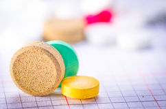 Medical pill tablet Stock Image