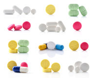 Medical pill tablet Stock Images
