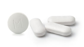Medical pill tablet isolated Stock Photos