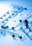 Medical pill temperature Stock Photos