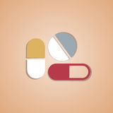 Medical pill Royalty Free Stock Photo