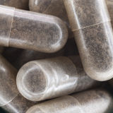 Medical pills. Close-up of grey medical pills Stock Photo