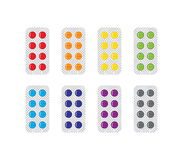 Medical Pills In Blisters Icons Set Stock Photo