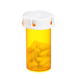 Medical pills bottle isolated stock images