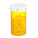 Medical pills bottle isolated royalty free stock photo