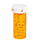Medical pills bottle isolated stock photography