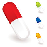 Medical pills collection Stock Image