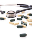 Medical pills for heart Royalty Free Stock Photos