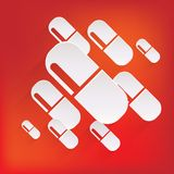 Medical pills icon Royalty Free Stock Photos