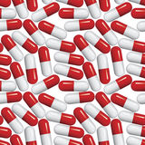 Medical pills seamless pattern. Stock Photo