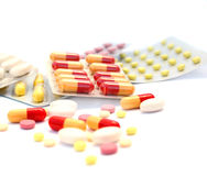 Medical pills and tablets royalty free stock photography