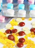 Medical pills and tablets Royalty Free Stock Photo