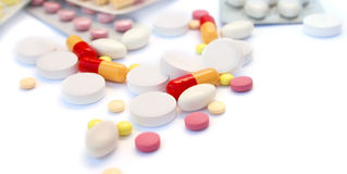 Medical pills and tablets Stock Image