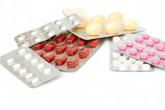 Medical pills and tablets Stock Photography