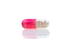 Medical pills and tablets background Stock Photo