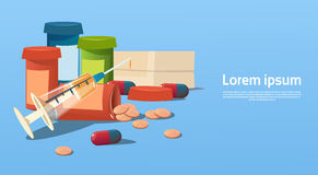 Medical Pills Tablets Bottle Health Care Royalty Free Stock Images