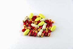 Medical pills and tablets isolated Royalty Free Stock Photos