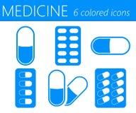 Medical Pills Vector Icons Set Royalty Free Stock Image