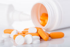 Medical pills. Medical pills on a white background Stock Images