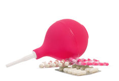Medical pink enema Stock Image