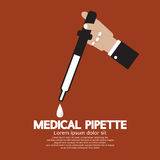 Medical Pipette In Hand Stock Images