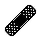 Medical plaster bandage adhesive pictogram Royalty Free Stock Image