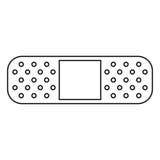 Medical plaster bandage adhesive thin line Stock Photography
