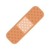 Medical plaster bandage adhesive Stock Images