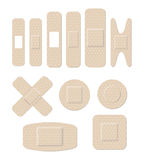 Medical plastic bandages of different shape Royalty Free Stock Image