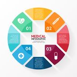 Medical plus sign healthcare hospital infographic Royalty Free Stock Images